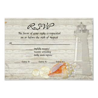 O farol da aguarela descasca o casamento da casa convite 8.89 x 12.7cm