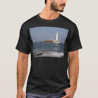 O farol de St Mary, camiseta da baía de Whitley