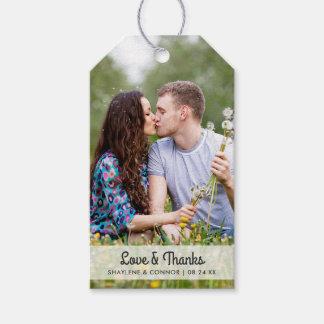 O favor do casamento da foto etiqueta   listrado