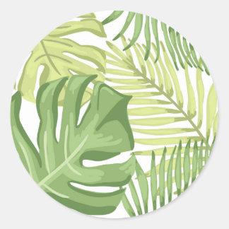 O favor tropical etiqueta folhas de palmeira Havaí