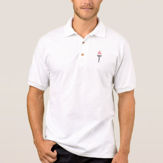 O fazer patrocina a camisa do golfe