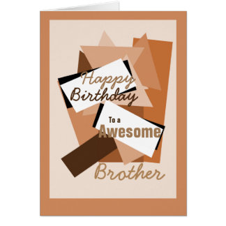 O feliz aniversario a um irmão impressionante dá cartão comemorativo