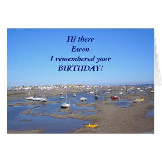 O feliz aniversario adiciona o NOME Cartão Comemorativo