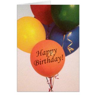 O feliz aniversario Balloons o cartão