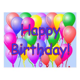 O feliz aniversario Balloons o cartão Cartão Postal