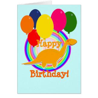 O feliz aniversario Balloons o cartão do