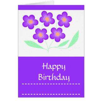 O feliz aniversario carda-a, general, customizável cartão comemorativo
