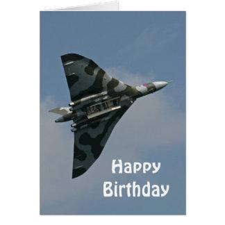 O feliz aniversario de Avro Vulcan Cartão Comemorativo