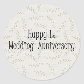 Ø feliz Aniversário de casamento Adesivos Redondos