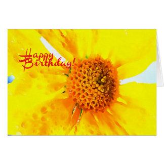 O feliz aniversario floresce o cartão