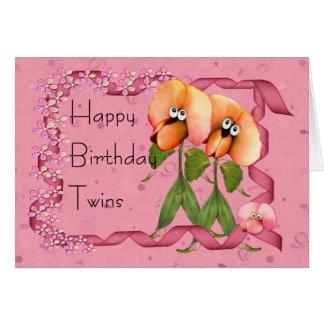 O feliz aniversario junta Bloomers bonitos de Cartão Comemorativo