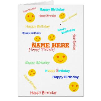 O feliz aniversario, lotes das épocas, adiciona a cartão comemorativo