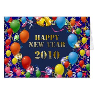 O feliz ano novo 2010 cartões
