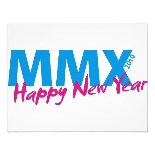 O feliz ano novo 2010 (MMX) Convite Personalizados