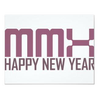 O feliz ano novo 2010 (MMX) Convites