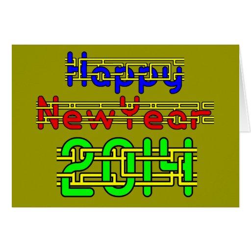O feliz ano novo 2014 cartão