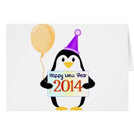O feliz ano novo 2014 cartões