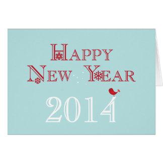 O feliz ano novo {2014} cartão comemorativo