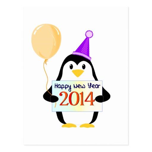 O feliz ano novo 2014 cartões postais