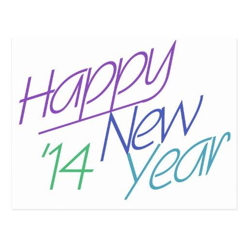 O feliz ano novo 2014 cartoes postais