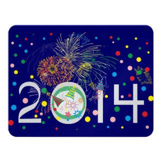 O feliz ano novo 2014 convite 10.79 x 13.97cm