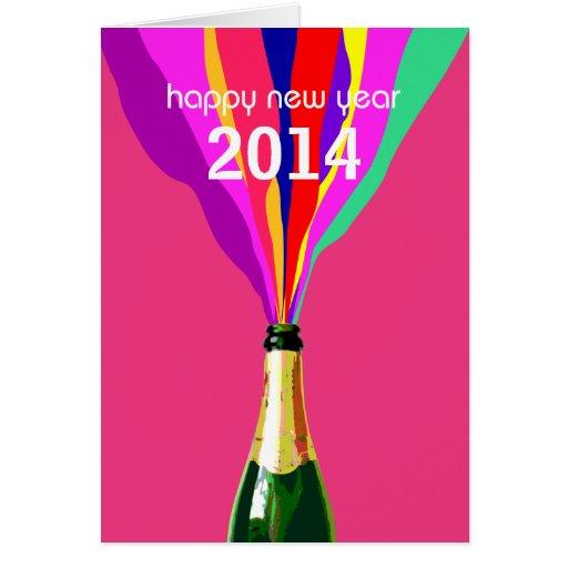 O feliz ano novo 2014, customizável cartao