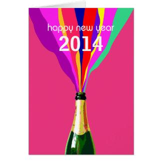 O feliz ano novo 2014, customizável cartão comemorativo