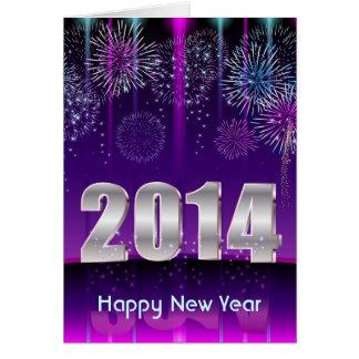 O feliz ano novo 2014 do cartão