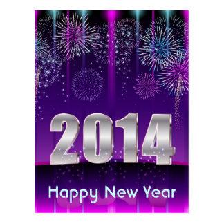 O feliz ano novo 2014 do cartão cartao postal