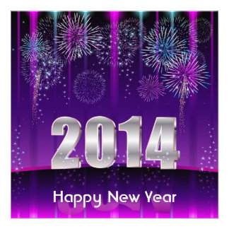 O feliz ano novo 2014 do convite