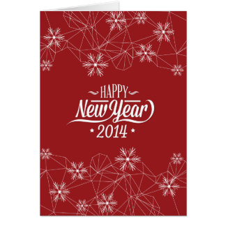 O feliz ano novo 2014 (vermelho escuro) cartões