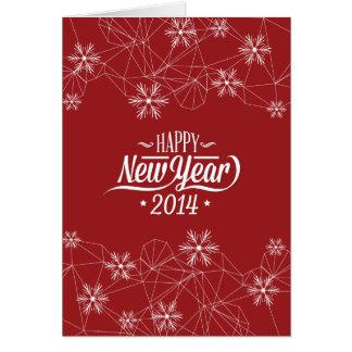 O feliz ano novo 2014 (vermelho escuro) cartão comemorativo