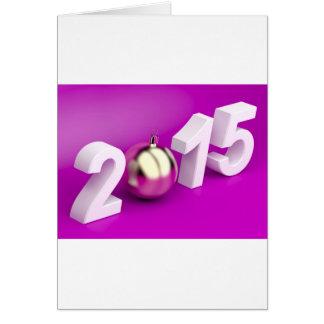 O feliz ano novo 2015 cartão