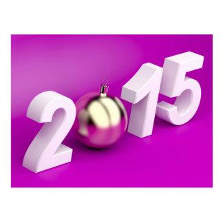 O feliz ano novo 2015 cartão postal