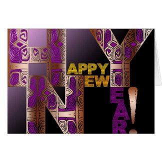 O feliz ano novo 2016 - cartão comemorativo