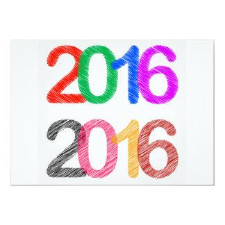 O feliz ano novo 2016 convite 12.7 x 17.78cm
