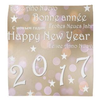 O feliz ano novo 2017 bandana