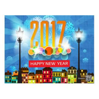 o feliz ano novo 2017 cartão postal