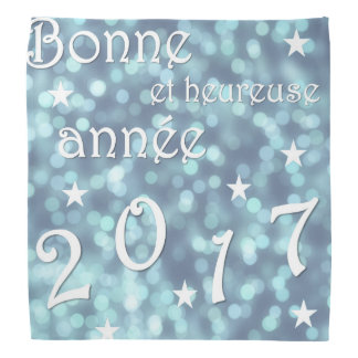 O feliz ano novo 2017, francês lenço