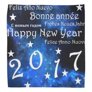 O feliz ano novo 2017 lenço