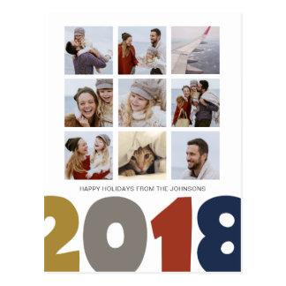 O feliz ano novo | 2018% pipe% 9 cartão das fotos