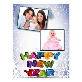 O feliz ano novo adiciona sua foto cartão postal