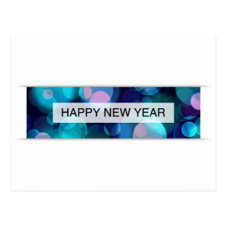 o feliz ano novo (bokeh) cartões postais