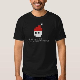 O feliz ano novo! camisetas