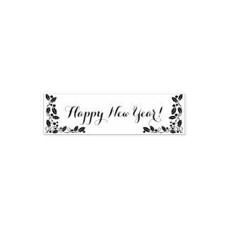 O feliz ano novo carimbo auto entintado
