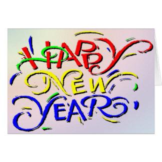 O feliz ano novo cartão comemorativo