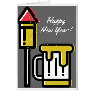 O feliz ano novo! Cartão