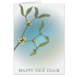 O feliz ano novo cartao