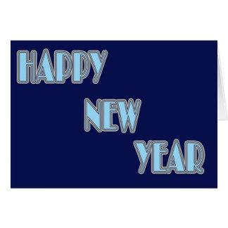 O feliz ano novo cartões