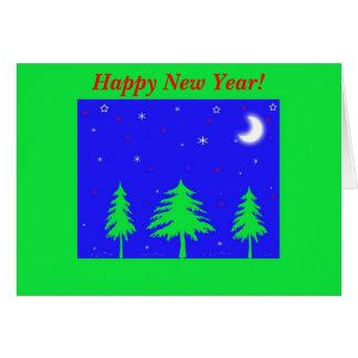 O feliz ano novo! cartao